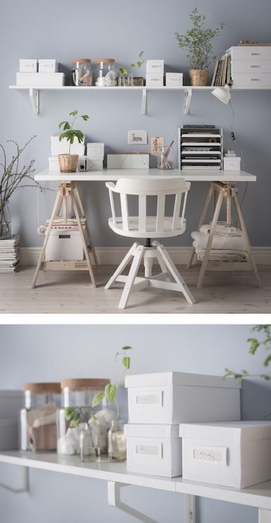 3 Ways To Organise Your Desk Home Home Office Design Trestle Desk