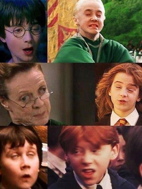 The amazing faces of Hogwarts! on We Heart It