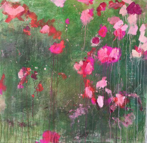 ..abstract art by sonja blaess....petit jardin...2016...