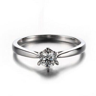 10K White Gold Trillion 6x6mm Natural Diamonds Semi Mount Eengagement Party Ring