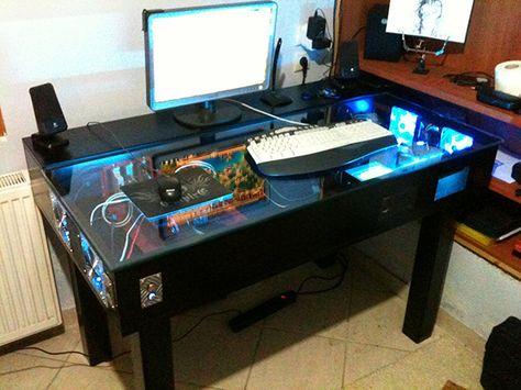 Custom Gaming Desk Google Search Diy Pinterest Desks And Computer Build