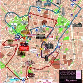 Milan Na Karte Mira Podrobnye Karty Milana Karta Otelej