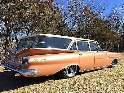 1959 Chevrolet Brookwood 348 Tri Power 4 Speed Air Ride Billet Specialties Air Ride Impala For Sale Station Wagon