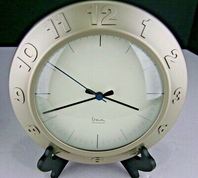 Michael Graves Satin Wall Clock 10 Inch Round Glass Lens Quartz Raised Numbers Fashion Home Garden Homedcor Clocks Ebay Michael Graves Wall Clock Clock