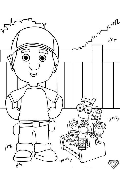 32 Handy Manny Coloring Page Ideas Handy Manny Coloring Pages Online Coloring Pages