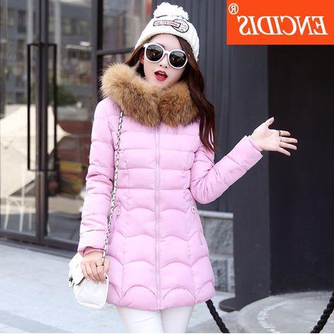32.80$  Buy here - https://alitems.com/g/1e8d114494b01f4c715516525dc3e8/?i=5&ulp=https%3A%2F%2Fwww.aliexpress.com%2Fitem%2F5-colors-Winter-coat-women-2016-New-Lady-Medium-Long-coats-and-Jacket-Female-Fur-Parka%2F32720938415.html - 5 colors Plus size Winter coat women 2016 New Lady Medium Long coats and Jacket Female Fur Hooded Parka clothing M94 32.80$