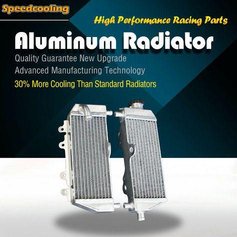 Fit Suzuki RMZ 250 2010-2012 2011 Aluminum Alloy Radiator Right /& Left Sides