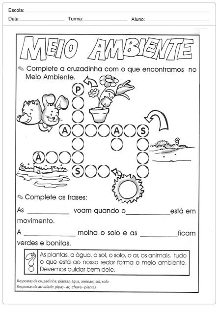 70 Atividades De Meio Ambiente Para Educacao Infantil Com Imagens