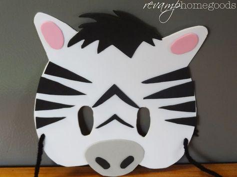 Revamp Homegoods: Kids Crafts: Foam Animal Masks - Zebra