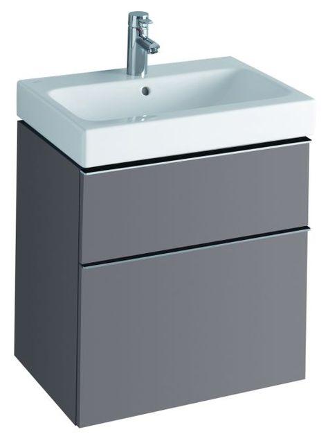 Keramag Icon Waschtisch mit Unterschrank Platin 60cm koupelna - unterschrank küche 60 cm