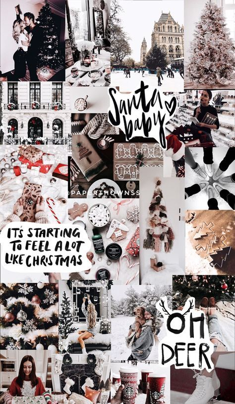 Aesthetic Christmas Wallpaper Collage Laptop
