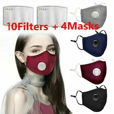 Details About Anti Air Pollution Face Mask Respirator W Filters Washable Adjustable Cotton In 2020 Purifying Face Mask Face Mask Dust Mask