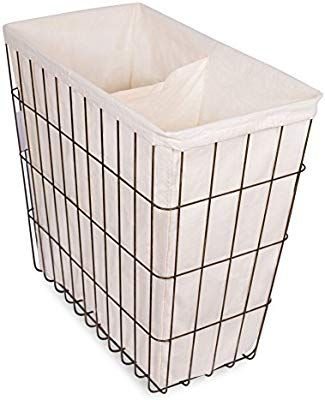 Amazon Com Birdrock Home Wire Double Laundry Hamper With Liner