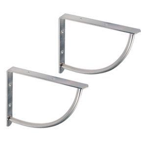 B Q Brushed Nickel Effect Steel Shelf Bracket Steel Shelf Brackets Hidden Shelf Brackets Hidden Shelf