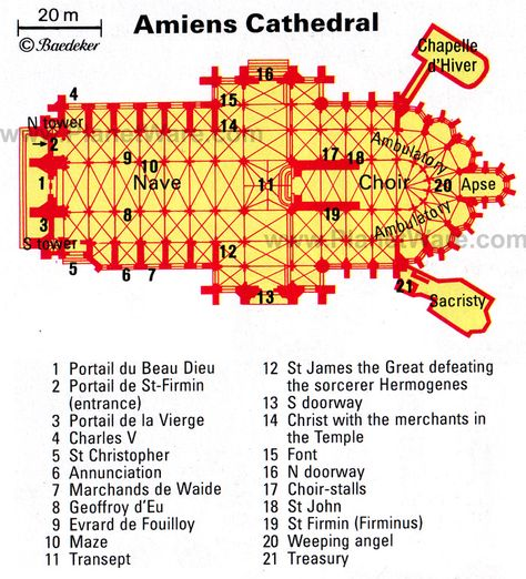 Amiens Cathedral Floor Plan Map Amiens Cathedral Gothic Church