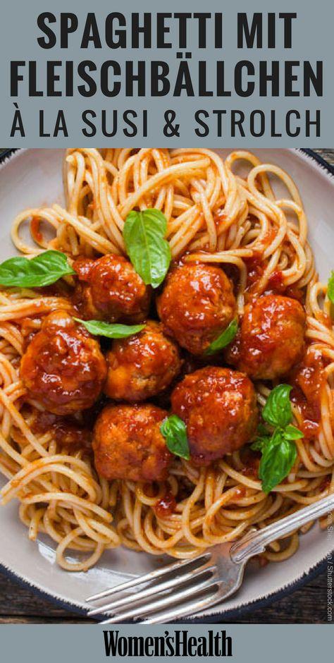 Spaghetti essen à la Susi und Strolch: Diese leckere Pasta mit Hackbällchen schmeckt nicht nur am Valentinstag. Unser Rezept für Spaghetti mit Fleischbällchen ist nicht nur in Skandinavien ein echter Klassiker