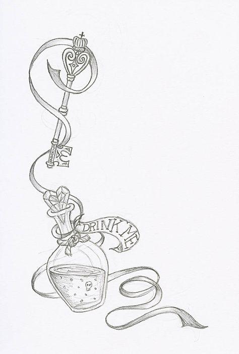 Drink Me By Pixirivets Armeltatowierungen Alice Im Wunderland