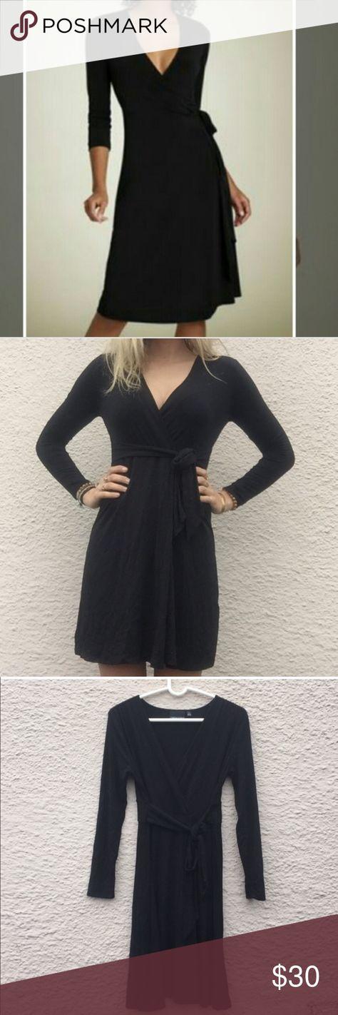 09df6a63ac6 Cynthia Rowley Black long sleeve wrap dress XL Essential wrap dress by Cynthia  Rowley. V