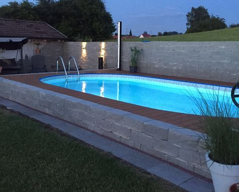 Stahlwandpool verkleiden  158 best Pool/ Jacuzzi images on Pinterest | Jacuzzi, Pool ideas ...