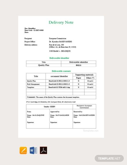 Sample Of Delivery Note Yahoo Search Results Yahoo Image Search