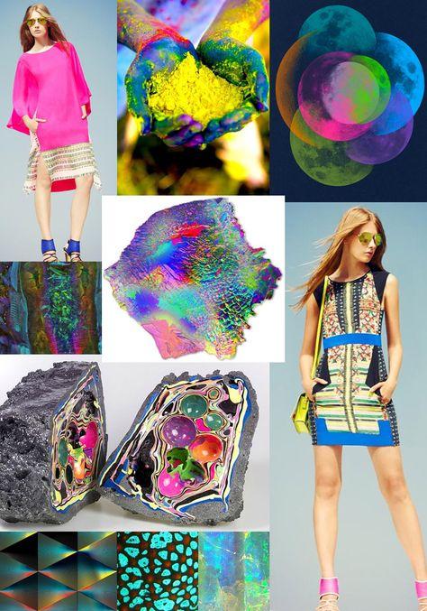 Colour Story – Vibrant Glow for Spring Summer 2013 – Day Glow Brights – Acid Yellow – Fluorescent Touches – Dark Undertones – Indigo Blue – Microscopic Colour – Underwater Tropics