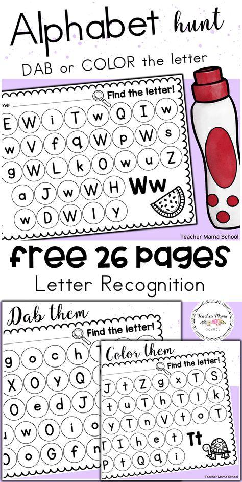 Alphabet Dab | TpT Language Arts Lessons | Pinterest | Kind