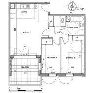 Plan Appartement 60m2 2 Chambres En 2020 Plan Appartement Plans