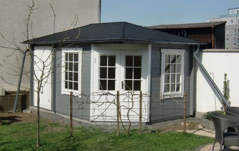 Lounge Haus Weka Davos Mit Lounge, 541 X 238 Cm, Anthrazit |  Außengestaltung Haus | Pinterest | Außengestaltung, Gartenhäuser Und  Häuschen