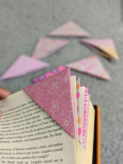 Corner Bookmarks / Handmade Bookmarks / Set of 10 Bookmarks