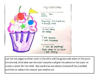 Cope Cakes Coping Skill Worksheets Coping Skills Worksheets Coping Skills Cope