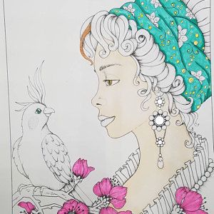 Age Of Elegance Coloring Book Artist S Edition Signed By The Author Coloring Books Artist Books Artist