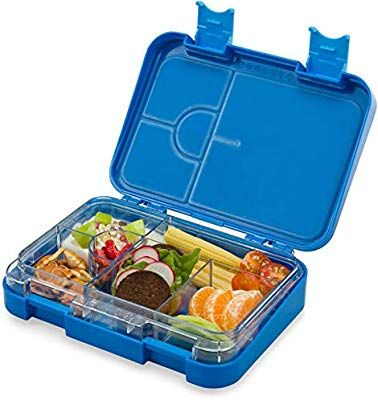 Schmatzfatz Junior Kinder Lunchbox Bento Box Mit Variablen Fachern Blau Amazon De Kuche Haushalt Lunchbox Ideen Brotdose Lunchboxen