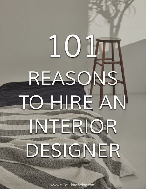 101 Reasons To Hire An Interior Designer With Images Interior