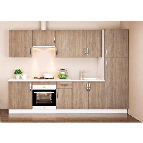 Cocina Completa 3 Metros Color Roble Kit Kit Complementos Sin Zocalo Y Sin Encimera Cc3 R Sin Muebles De Cocina Cocinas Completas Cocina Larga
