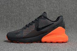 Nike Air Max Flair 270 Kpu Black Orange Men S Running Shoes Nike