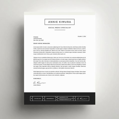 Creative Resume Template And Cover Letter Template For Word Instant Digital Download The Annie Professional And Modern Design Lettre De Motivation Cv Lettre De Motivation Modele Lettre De Motivation