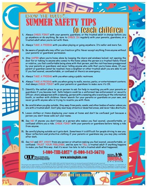 Summer Safety Tips For Parents And Kids Www Crippencars Com