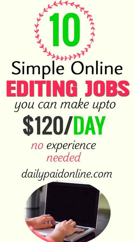 10 Simple Online Editing Jobs That Makes $120/Day Work From Home No Experience Needed Extra Cash