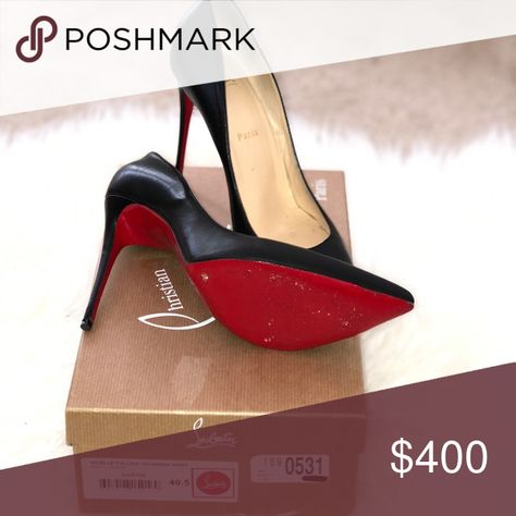new concept f7742 be3f7 Christian Louboutin pumps Black CL pigalles. Worn.. very ...