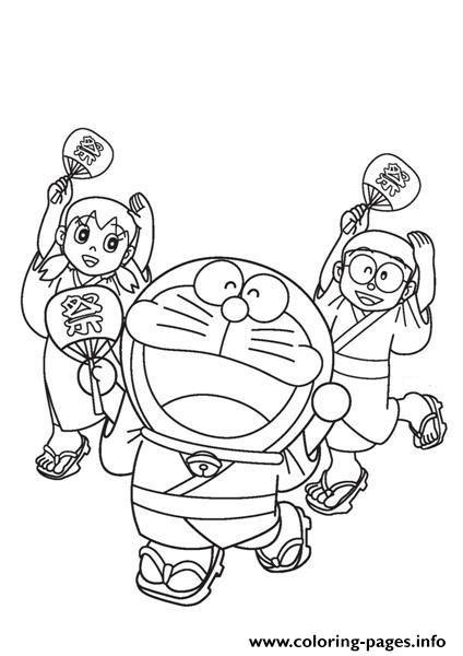 Print Doraemon And Friends In Summer Festival5e88 Coloring Pages Coloring Pages Dinosaur Coloring Pages Doraemon