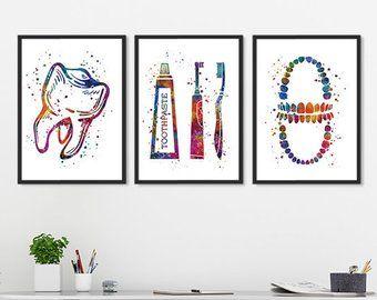 Dental Wall Decor Etsy Dental Art Dental Wall Art Dental Office Decor