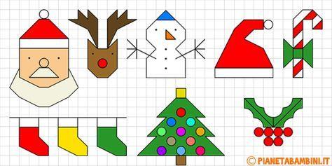 Disegni Di Natale A Quadretti.Cornicette Di Natale A Quadretti Da Disegnare E Colorare Bambini Di Natale Natale Disegno Su Quaderno