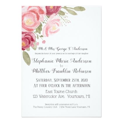 Watercolor Blush Pink Peonies Invitation Zazzle Com Watercolor