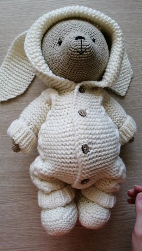 This is a DIGITAL PATTERN in English on crochet a bear toy in pdf format, this is not a finished toy.  When loading PDP, returns are not possible!   Size of the finished toy about 32 cm (12,59)  Level: medium. This pattern includes: - pdf file with detailed instructions in English; - 49 pages long