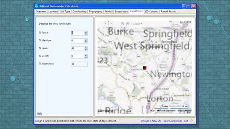 In this video from the US EPA, the agency demonstrates its National Stormwater Calculator, a desktop application that estimates the annual amount of rainwater and frequency of runoff from a specific site  based on local soil conditions, land cover and historic rainfall records. Users supply information about the site's land cover as well as what types of green infrastructure they would like to use.