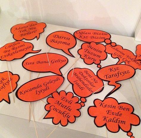 Parti nişan-düğün- kiz isteme -konusma balonlari-verdik gitti-event-organization-customized-party- engagement- wedding-comment-