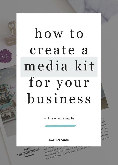 How to Create a Media Kit, Why You Need One + Real World Example