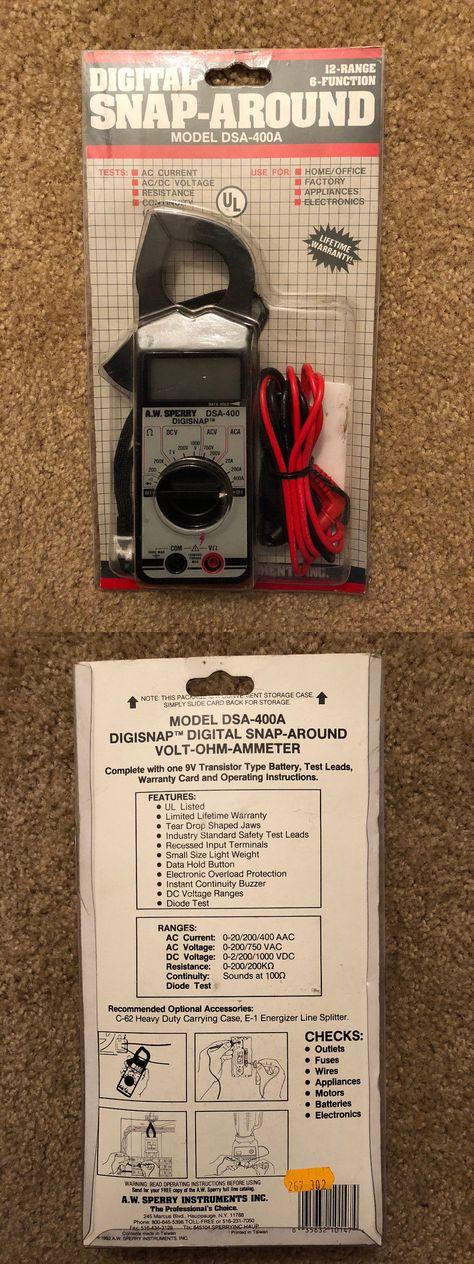 Test Meters & Detectors GREENLEE CM-600 CLAMP ON LCD 600 VOLTAGE ...