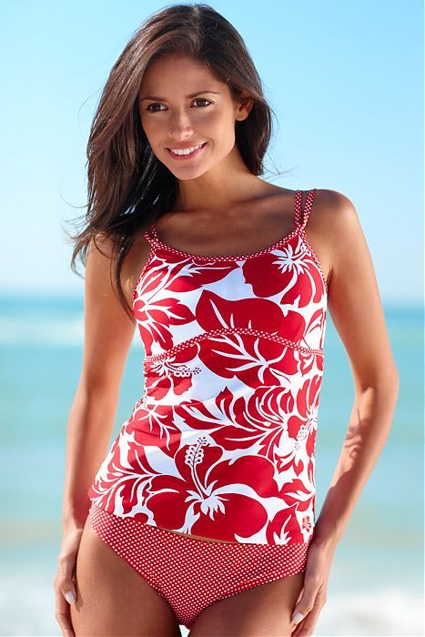 Flower Candy SOS Tankini Top.