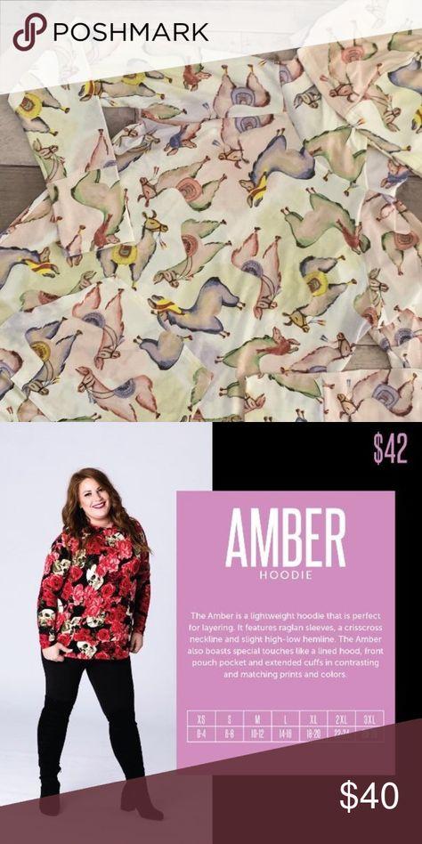 NWT Lularoe Large Llama Amber NWT Lularoe Amber, size large. Adorable llama print. LuLaRoe Tops